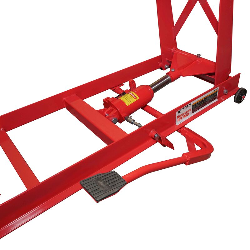 Titan 1,000 lb (1/2 Ton) Capacity Motorcycle Lift Table Jack Stand