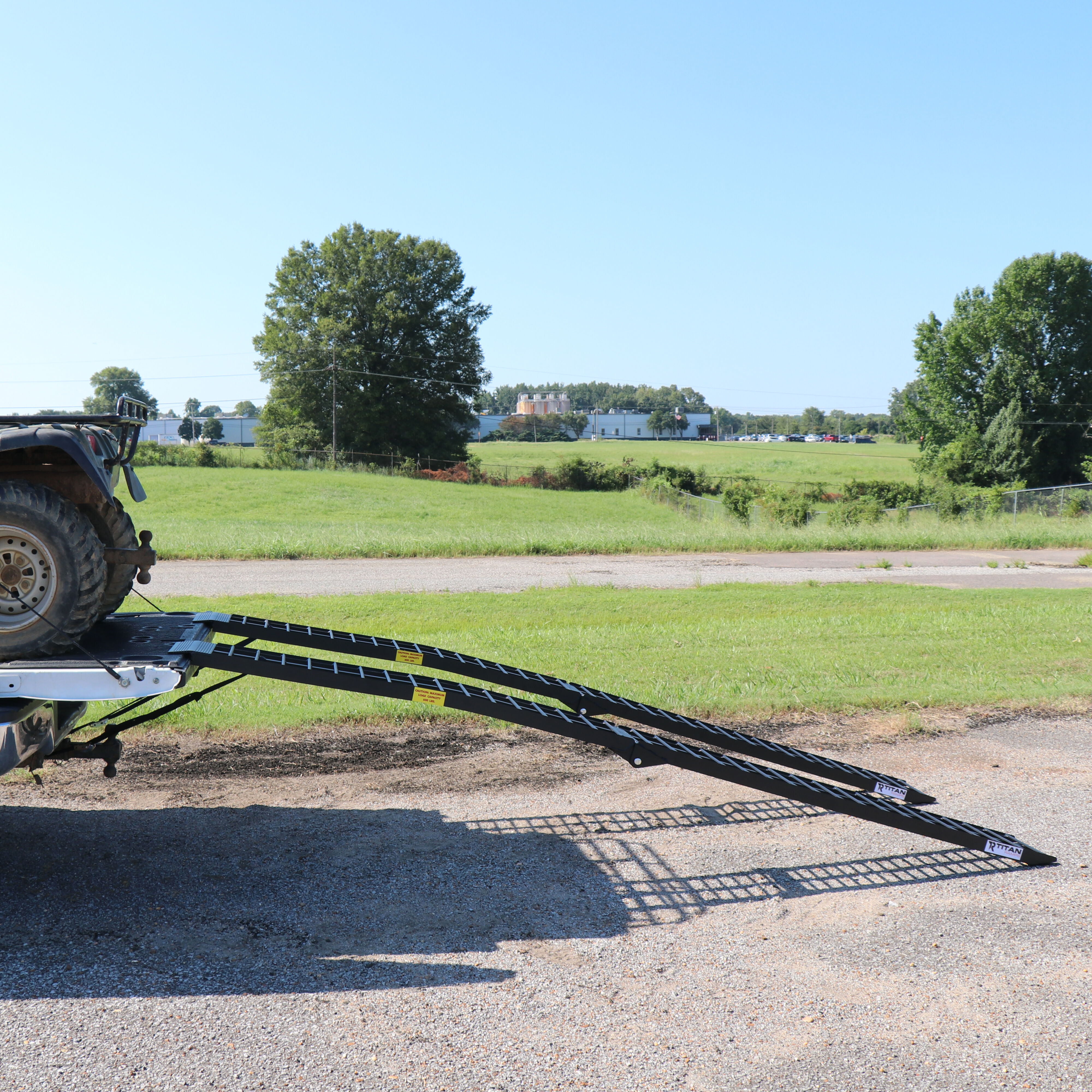 Titan Pair of 10 Long Folding Aluminum Arch ATV Ramps