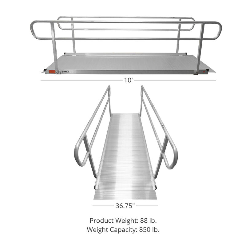 10 FT Aluminum Wheelchair Entry Ramp Only