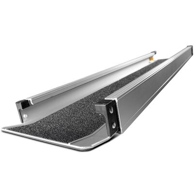 4'-7' Aluminum Wheelchair Loading Ramp, Portable Scooter Access with Carry Bag