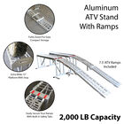 Aluminum ATV Stand  With Ramps