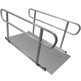 6 FT Aluminum Wheelchair Entry Ramp & Handrails