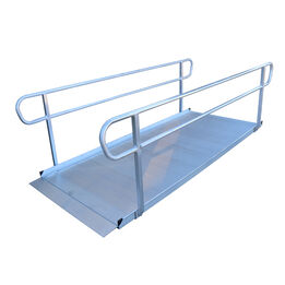 """10' Aluminum Wheelchair Entry Ramp With Handrails 