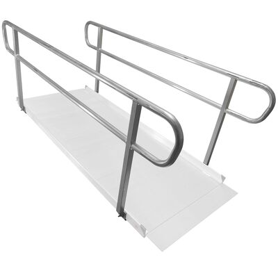 8 FT Wheelchair Entry Ramp Handrails Only