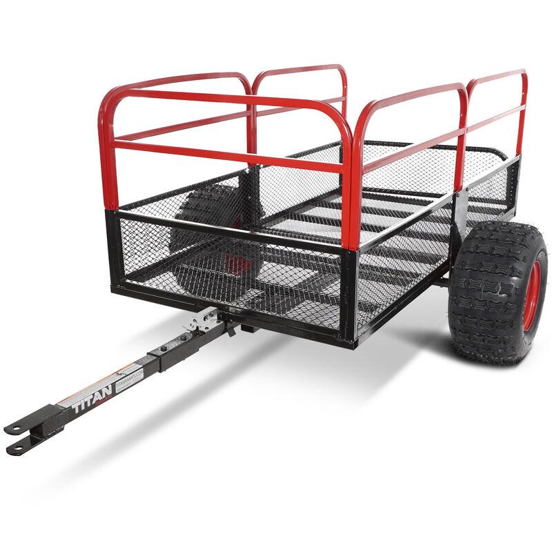 "60"" x 31"" Steel ATV Utility Trailer 1,000 lb Capacity Pin Hitch 18"" Tires"