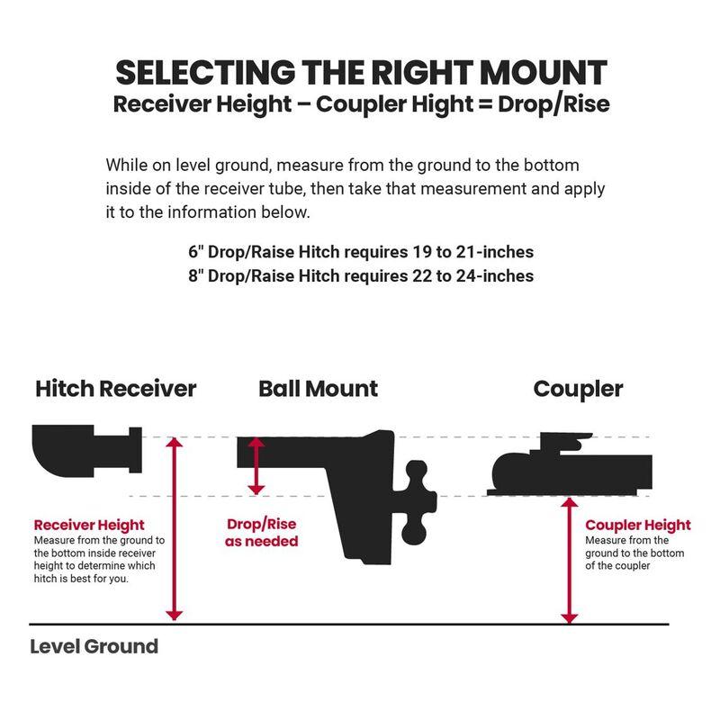 Drop/Rise HD Dual Ball Mount Trailer Hitches