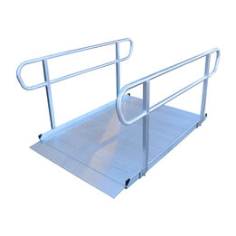 6 FT Aluminum Wheelchair Entry Ramp With Handrails | 48-in Wide
