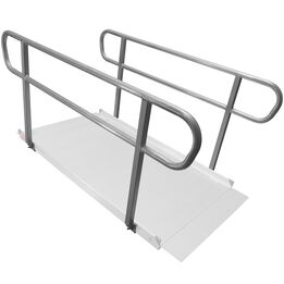 6 FT Wheelchair Entry Ramp Handrails Only