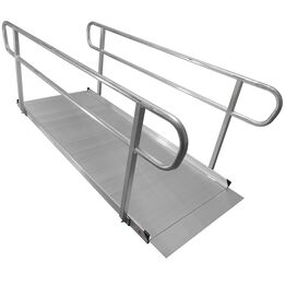8 FT Aluminum Wheelchair Entry Ramp And Handrails