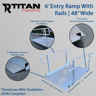 "6' Aluminum Wheelchair Entry Ramp With Handrails | 48"" Wide"