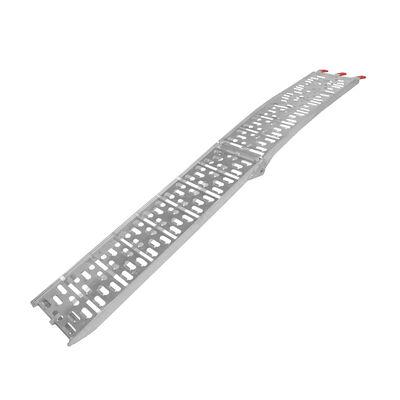 "Titan 7.5' Aluminum Plate Fold ATV Loading Ramp 90"" Single Lawnmower Truck Trail"