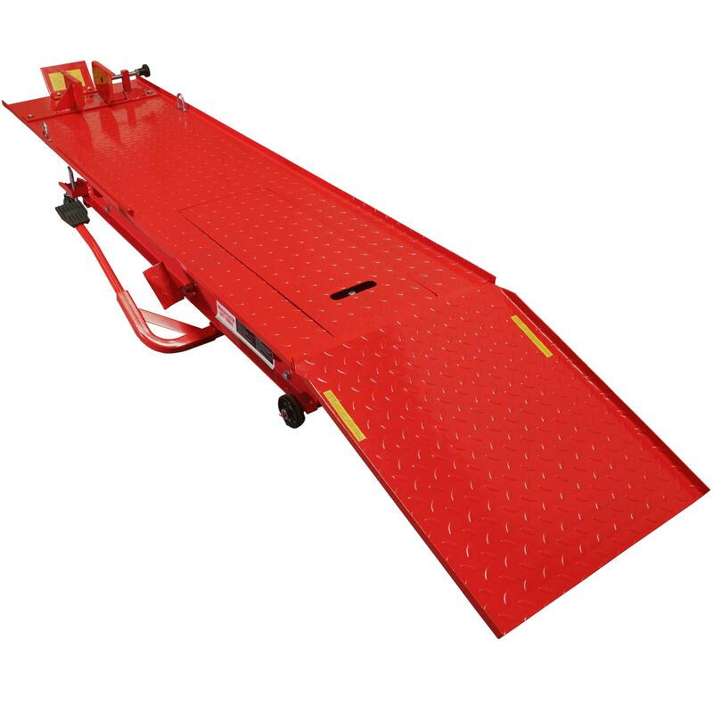 Titan 1,000 lb (1/2 Ton) Capacity Motorcycle Lift Table Jack Stand