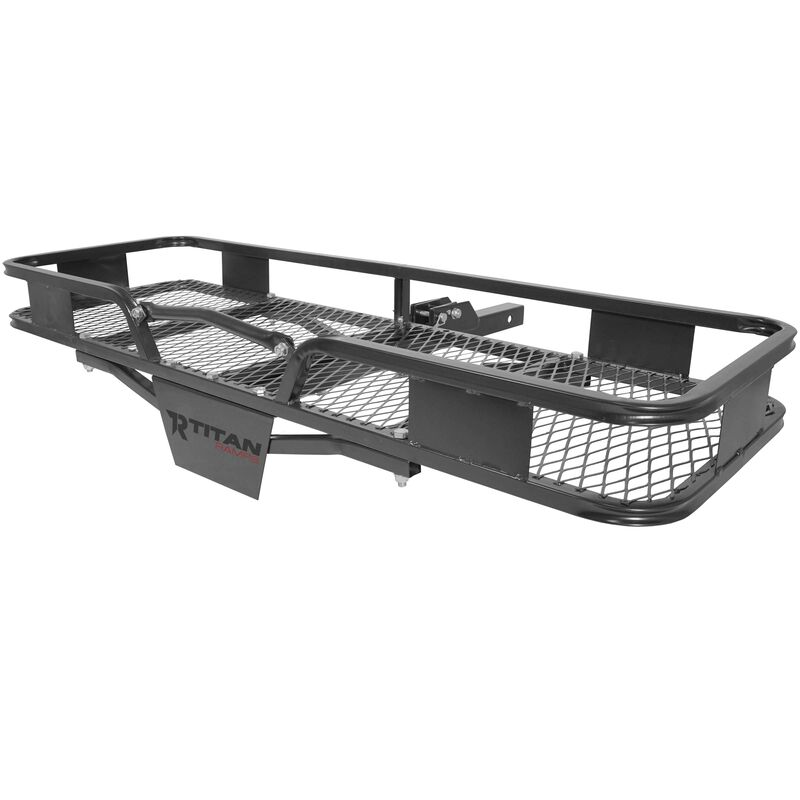 Hitch Mounted Steel Cargo Carrier Basket 500 lb Capacity