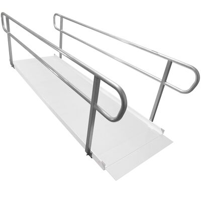 10 F Wheelchair Entry Ramp Handrails Only
