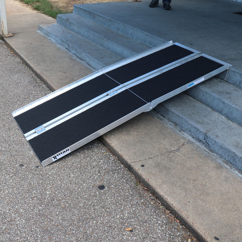 8 FT Multifold Aluminum Wheelchair Ramp