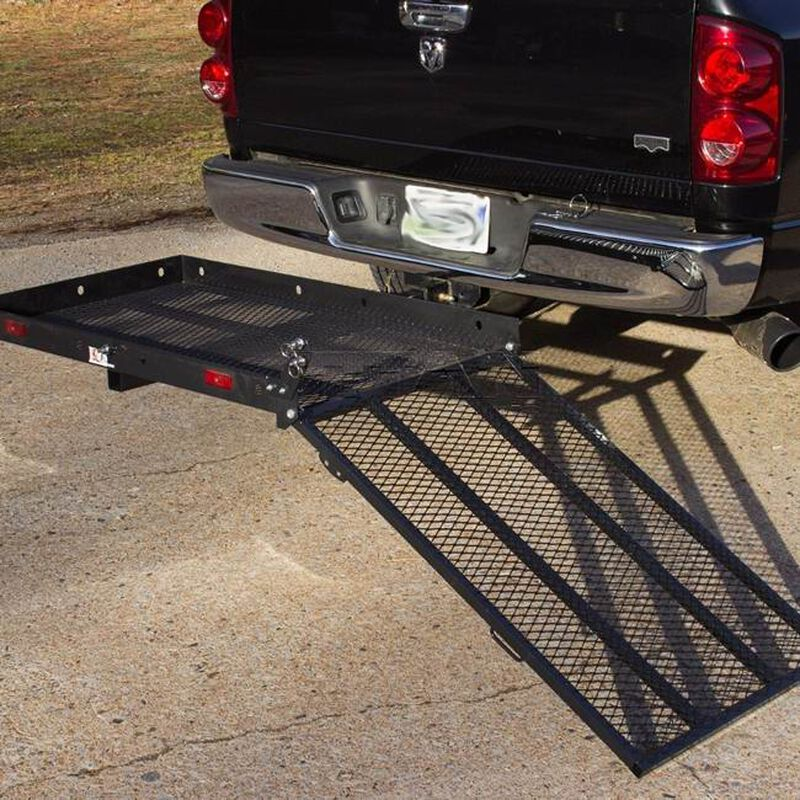 Hitch Mounted Wheelchair Scooter Mobility Carrier Medical Rack Ramp MC400 SC400
