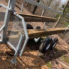 Tow Behind ATV & UTV Timber Trailer with Manual Crane - Wood Hauler & Carrier Rack