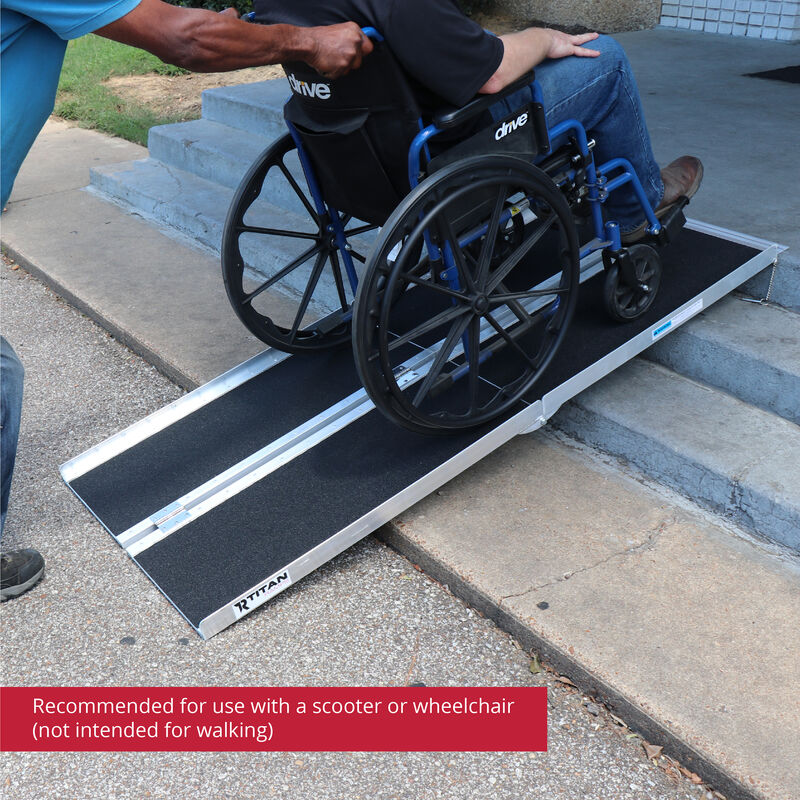 6 FT Multifold Aluminum Wheelchair Ramp