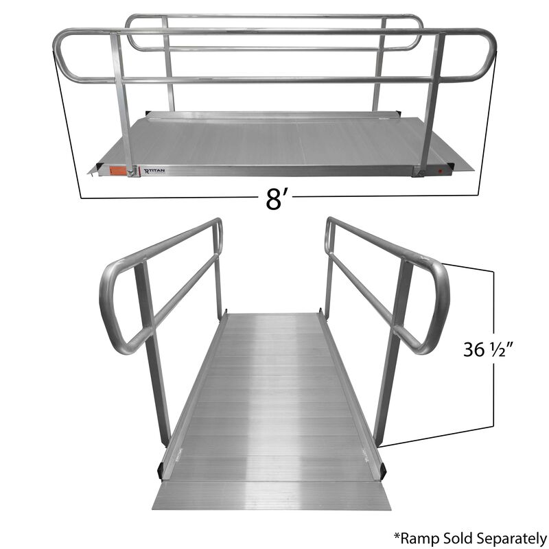 8' Wheelchair Entry Ramp Handrails Only