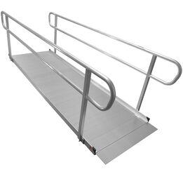 10 FT Aluminum Wheelchair Entry Ramp & Handrails