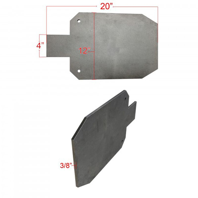"""Pair of AR500 Silhouette Steel Plate Shooting Targets 20""""x12"""" 3/8"""" Thick"""