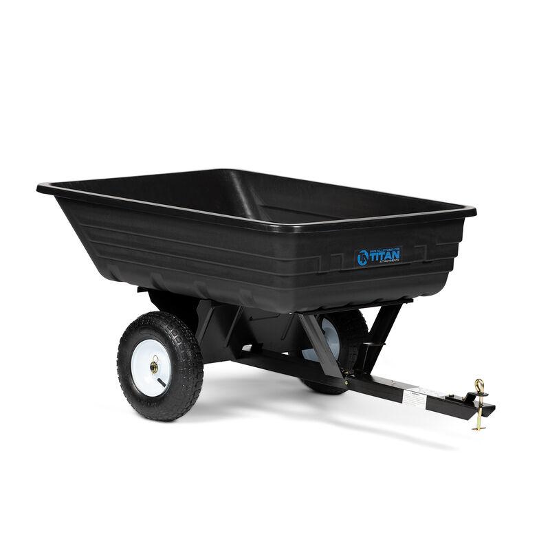 400 LB ATV & UTV Poly Dump Cart - Tow Behind Cart & Hauling Trailer Hitch