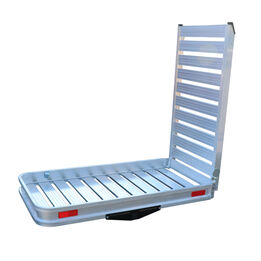 Hitch Mounted Aluminum Carrier With Ramp For Wheelchairs