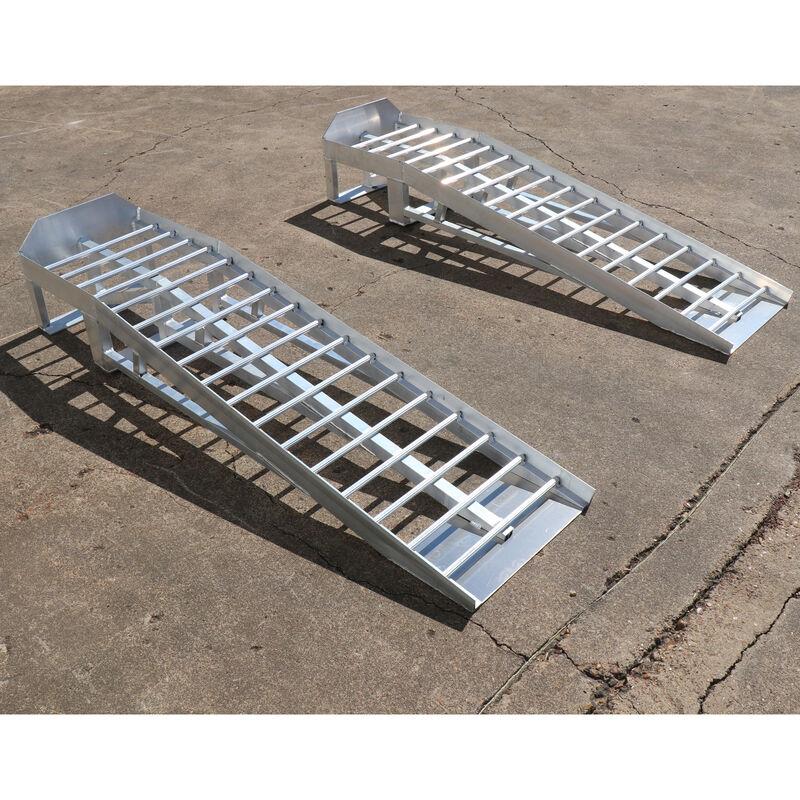 Pair of Low Profile Aluminum Car Ramps – 3,000 LB Capacity