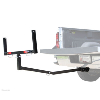 "Truck Bed Extender for 2"" Trailer Hitch, Heavy-Duty Cargo Carrier for Trucks"