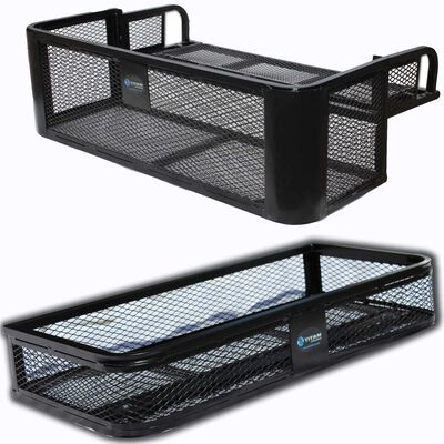 Universal Front ATV HD Steel Cargo Basket w/Rear Drop Basket Set