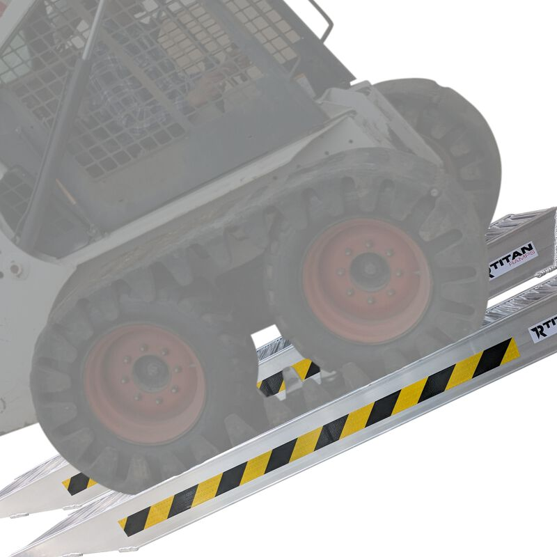 6' Skid Steer Ramps 14,000 LB Capacity | Pair