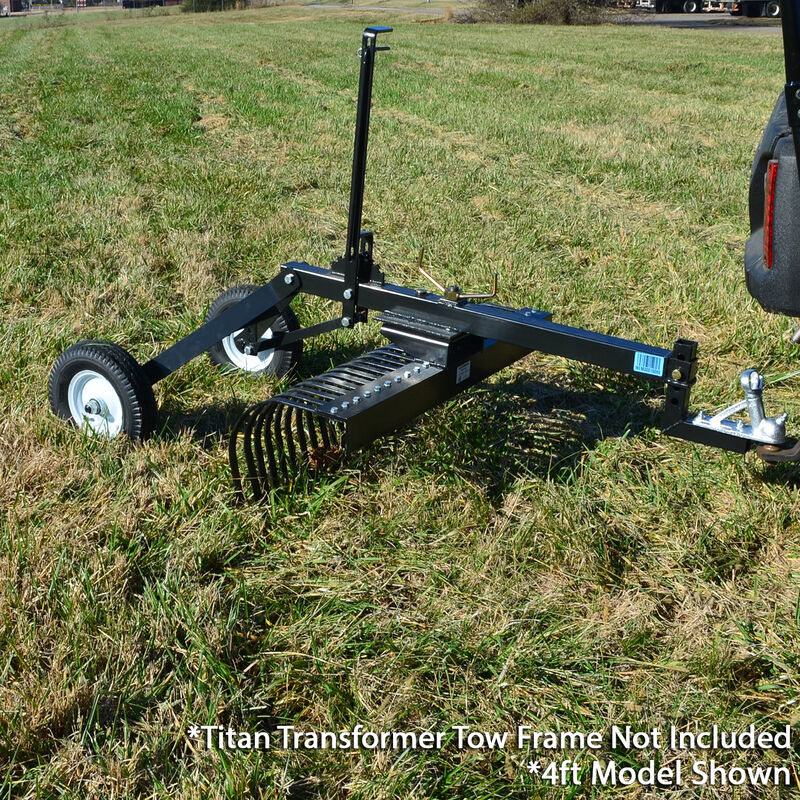 6' Landscape Rake Add On For Transformer Tow Frame – Attachment Only