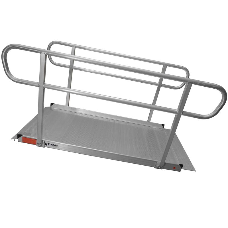 6' Aluminum Wheelchair Entry Ramp & Handrails
