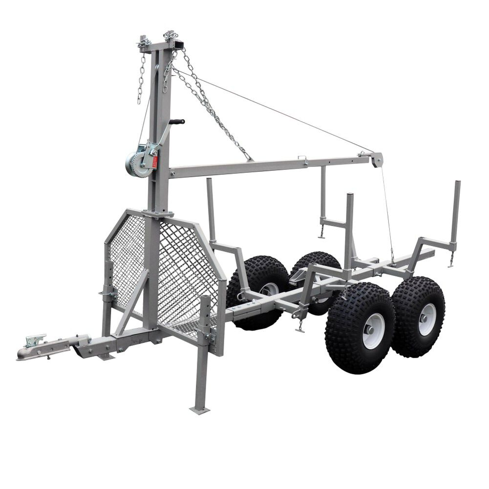 2 Pack Timber Tuff ATV and UTV Heavy Duty Log Lumber Choker Cable w// Tow Rings