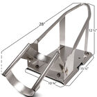 Chrome Removable Motorcycle Wheel Chock for Trailer or Truck Bed